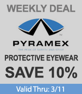 Pyramex Safety Glasses - 10% Off